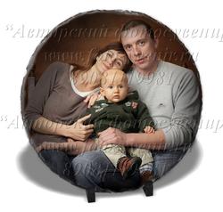Фотокамень круглый с подвесом 30 см