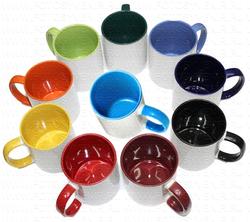 Кружка с цветной ручкой и внутр. поверхностью