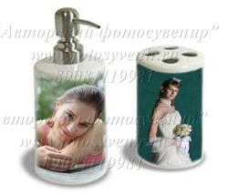 Набор для ванной комнаты (под жидк. мыло и щетки)