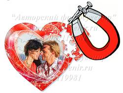 Пазлы магнитные в виде сердца