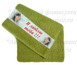 Полотенце махровое с бордюром под печать (30Х50(70) или 50Х100 см)